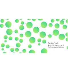 Widescreen modern background with green chemical vector