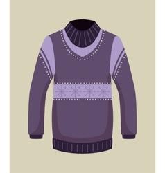 Winter season sweater icon vector