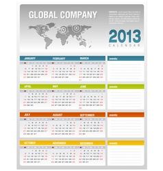 2013 corporate calendar template vector image vector image