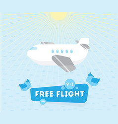 a plane and leil to label kids vector image