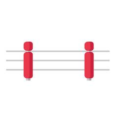 boxing ring cartoon vector image