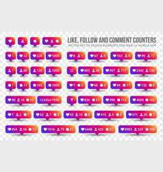 Counter icons vector
