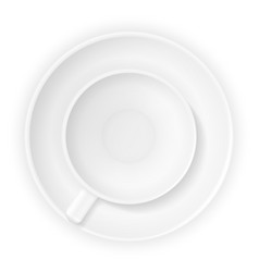 cup for coffee and tea stock vector image