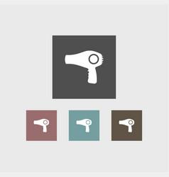 hair dryer icon simple barbershop vector image