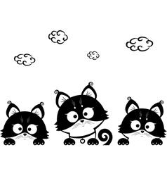 kittens three vector image vector image