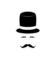 portrait of a gentleman vector image vector image