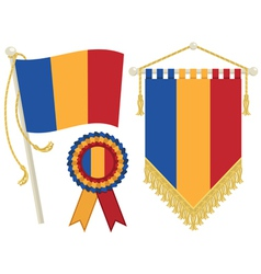 romania flags vector image vector image