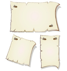Set of empty frames with gilt rim vector image vector image
