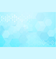 abstract geometric hexagons shape and science vector image