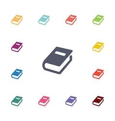books flat icons set vector image