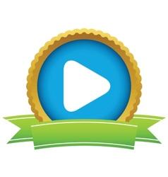 Gold play logo vector image