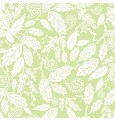 Green and white Leaves Seamless Pattern Background vector image vector image