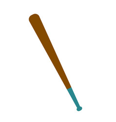 wooden baseball bat cartoon vector image