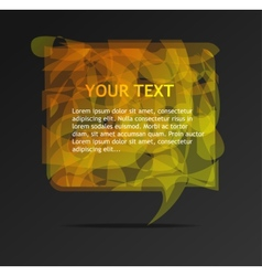 Abstract orange speech bubble vector image vector image