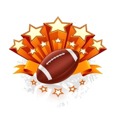 American Football Emblem vector image vector image