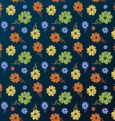 flower pattern Vintage seamless background vector image vector image