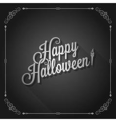 halloween movie screen vintage background vector image vector image