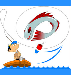 miracle fish vector image