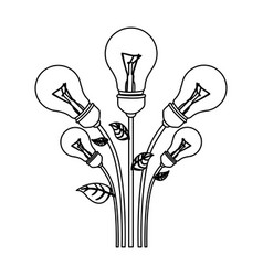 normal save bulbs plant icon vector image