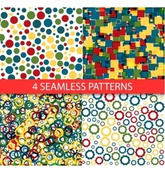 Seamless colorful patterns vector image