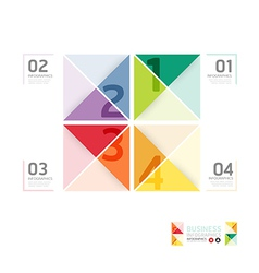 Abstract infographic Design Minimal style template vector image