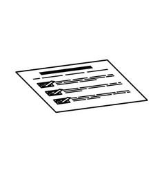 financial report document vector image vector image