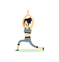 Girl posing pose yoga vector image