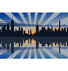New York Sunset Profile vector image