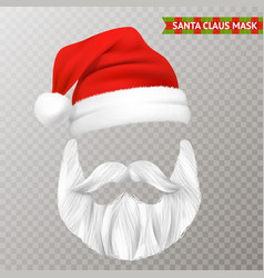 santa claus transparent christmas mask vector image vector image