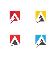 A letter lightning logo vector