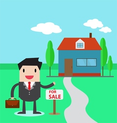 A real estate agent vector image