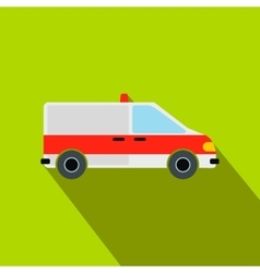 Ambulance car flat icon vector image