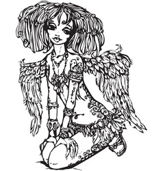 Angel girl vector