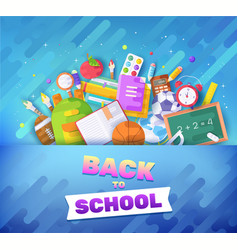 back to school information cards set student vector image