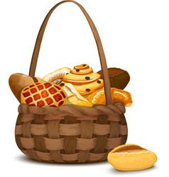 Bakery In Basket vector