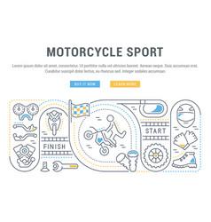 Banner motorcycle sport vector