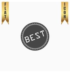 Best Badge Label or Sticker vector image