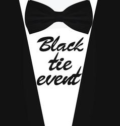 Black tie event card vector
