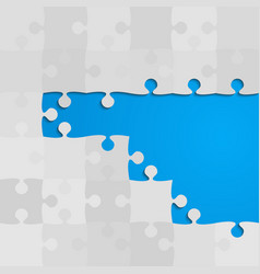 Blue background puzzle jigsaw banner puzzle vector