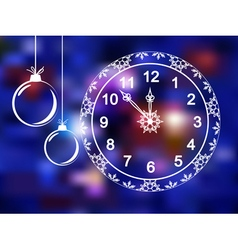 Christmas clock vector