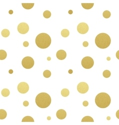 Classic dotted seamless gold glitter pattern vector image
