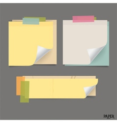 Collection of vintage note papers ready for your vector image