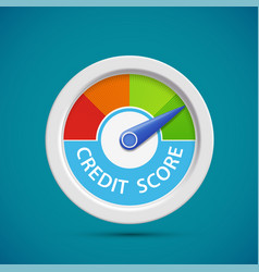 credit score rating scale with arrow vector image