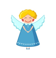 Cute angel icon in flat style vector