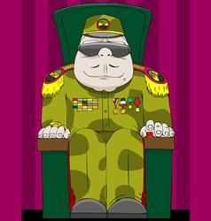 dictator vector image