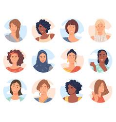 Diverse women avatar vector
