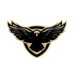 eagle in flight logo symbol vector image