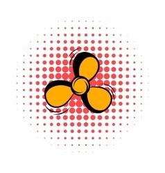 Fan comics icon vector