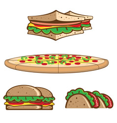 fastfood theme pack vector image