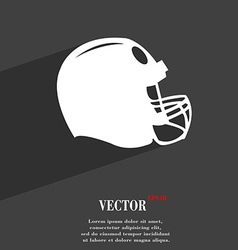 football helmet symbol Flat modern web design with vector image